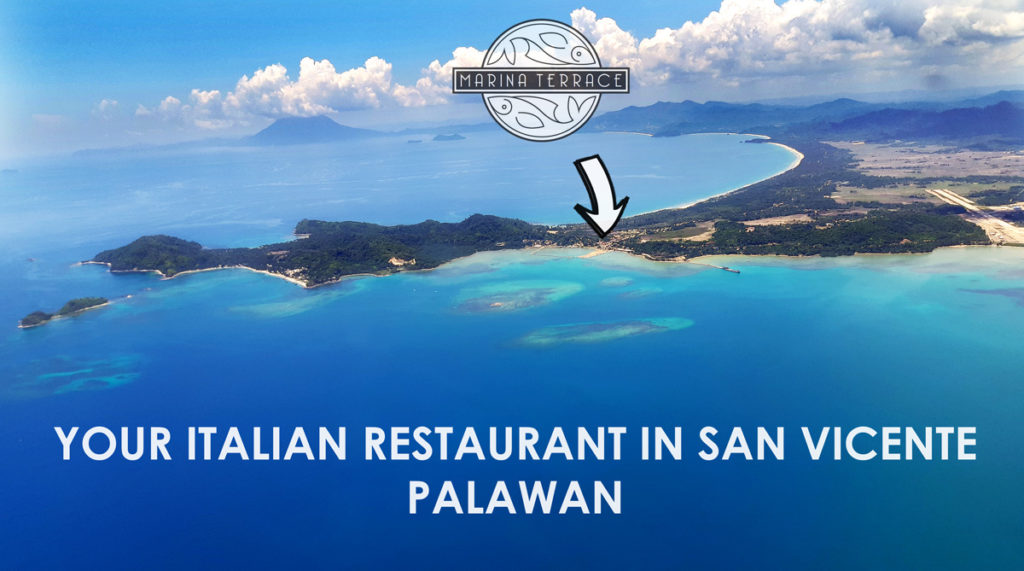 Marina Terrace Restaurant in San Vicente Palawan